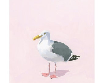 "8x10"" print - bird art - ""Seagull 16"""