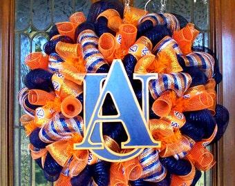 Deco Mesh Auburn Wreath