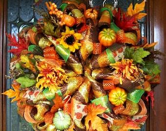 Lavish Fall Wreath