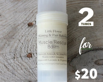2 Tubes Muscle Rescue Salve Boyfriend Gift, Mens Gift, Husband Gift, Brother gift, father gift, athlete gift, arnica & st. johns wort