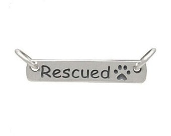Rescued Paw Print Charm Link - Paw Charm - Rescue Charm