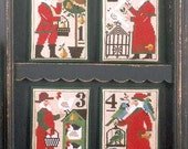 Santa's 12 Days of Christmas 1-4 Book No. 125 : cross stitch patterns Prairie Schooler December Winter holidays Santa Claus hand embroidery