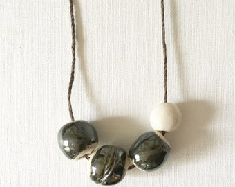 I LIKE BIG BEADS ceramic bead necklace