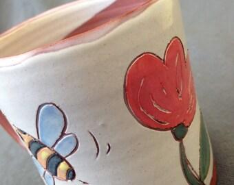 Busy Bees Mug Earthenware OOAK