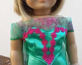 American Girl Doll Clothes, Frozen Fever 2, Elsa, Spring and Summer Ensemble, 18 Inch Doll Clothes, Made to Fit American Girl Dolls