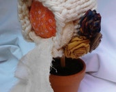Handmade Knitted Pixie Bonnet Photoprop Photo Prop Fall Autumn 9-12 months RTS Ready to Ship