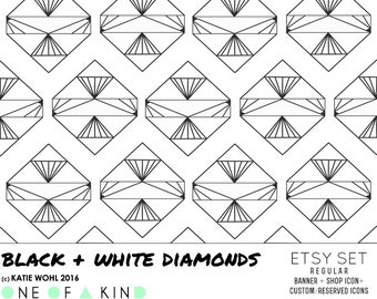 black and white diamonds - ETSY KIT