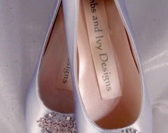 Blue Flats,  Bride's Blue Balletl Flats, Rhinestone ballet flats  Bridal Balllet Shoes, Ballerina Slippers, Wedding Satin Bow Shoes