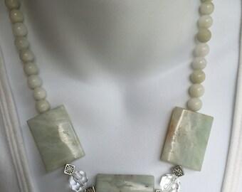 Large Gemstone Chunky Necklace