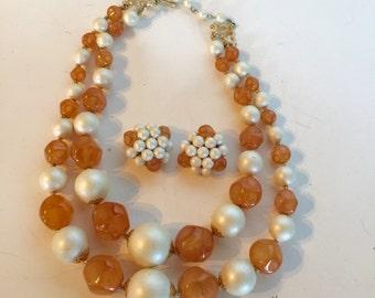 Necklace & Earring Set Vintage Lot 621
