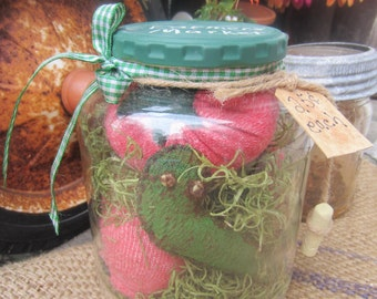 TOMATO n WORM JAR~ Up cycled Jar~ Mason Jar Decor~ Chalkboard~ Farm~ Farmhouse Decor~ Make Do~