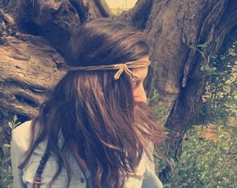 Fabric headband, fringe headband, workout headband, upcycled headband, FiveBand, hippie headband, boho headband, boho chic, yoga headband