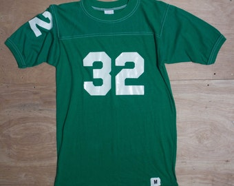 "MED | Vintage Athletic Football Shirt ""32"" Soft and Thin 50/50"