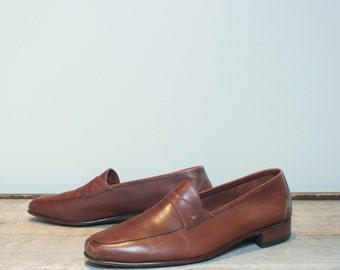 10.5 M | Men's Bally of Switzerland Continentals Brown Loafers Dress Shoes