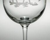 Moose Wine Glass