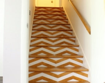 Chevron Your Stairs | Removable wallpaper | Vinyl wall sticker decal | Thick Chevrons | FREE SHIPPING