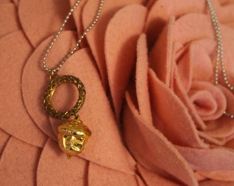 Ready For Fall Acorn Necklace