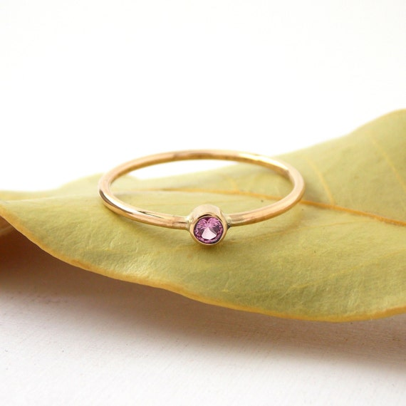 simple gold filled birthstone ring 14k yellow by
