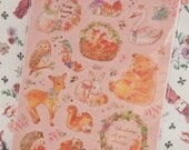 Vintage Style Animals Deco Sticker (1 sheet)