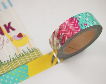 Shiny Pattern Washi Tape (10M)