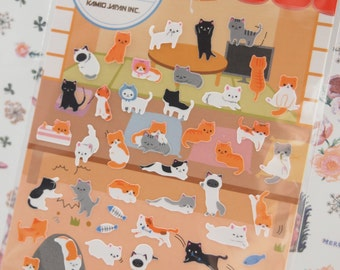 Lovely Cat Petit Mark Seal Deco Sticker (1 sheet)
