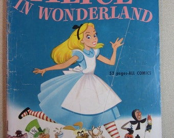 Vintage 1951 Walt Disney's Alice In Wonderland Dell Comic No. 331