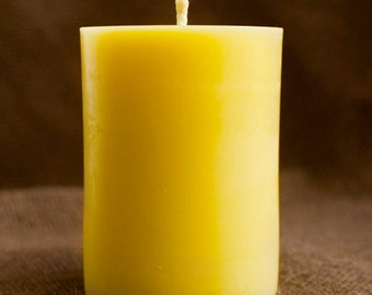 """100% Pure Beeswax Pillar Candle - 3"""" x 4"""""""