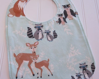 Toddler Bib/12-24 mo./Oh Hello in Meadow/Organic Fleece Back