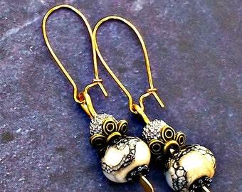 Welcome Autumn Golden Halo Dancing Earrings