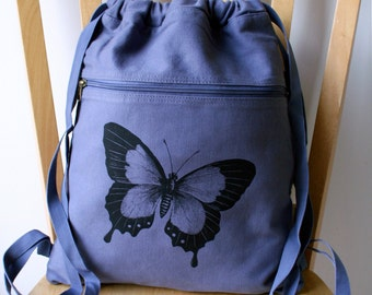 Butterfly Canvas Backpack Bag for Women School Bag Laptop Bag