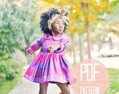 Toddler Peter Pan Collar Dress Pattern PDF Easy Quick Sewing Project Girl Dress Pattern Long Sleeve Dress Sewing Pattern Vintage Style Baby