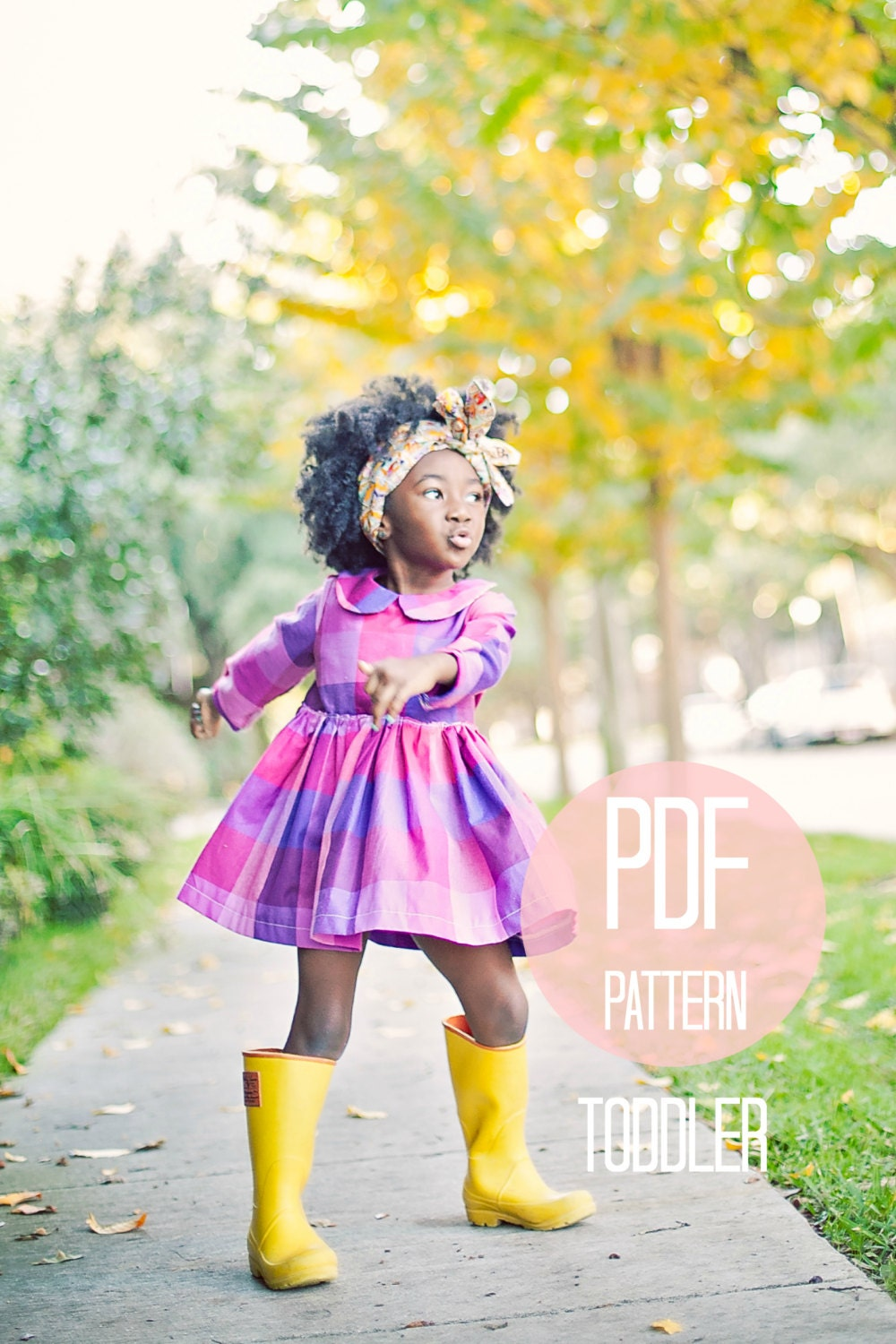 Toddler Peter Pan Collar Dress Pattern Pdf Easy Quick