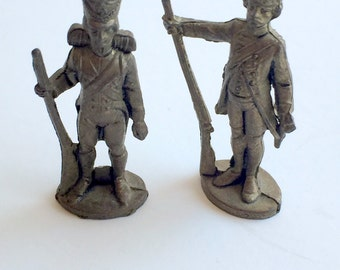Miniature Soldiers Metal Vintage Collector Items