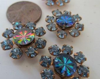 "Vintage Swarovski Light Sapphire Crystal ""Spokes"""