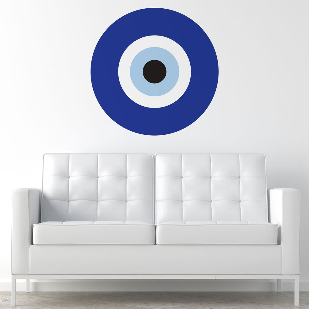 Blue evil eye wall sticker decal my wonderful walls zoom amipublicfo Images