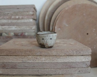 Primitive wonky shot glass - spice container