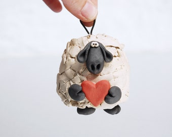 Love Ewe Sheep Ornament Bell for Valentines Day, just for fun or home decor