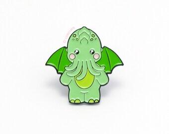 Cute-thulu Enamel Pin - Soft Enamel Pin Cloisonné Cthulhu Lapel Pin Monster Pin Badge Kawaii Demon Pin Cthulhu Mythos Brooch