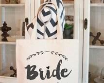 Wedding Tote Bag, Brides Bag,Tote Bag, Gift bag, Brides bag,Tote For Bride, Bride To Be Bag, by Modern Vintage Market