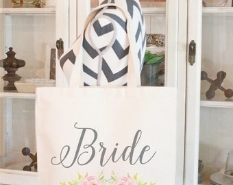 1 Custom Tote Bag,Gift bags,Monogrammed tote bags, Chevron bags,Bridesmaid bags,60 colors to chose from by Modern Vintage Market