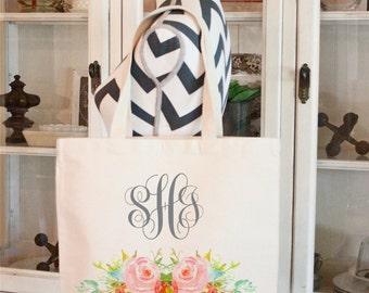 Tote Bags,Wedding Bags,Canvas Tote bags,Bridesmaid Bags,Monogrammed tote bags, Chevron bags,Bridesmaid bags,Modern Vintage Market