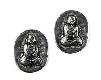 Buddha Cufflinks - Gifts for Buddhists - Anniversary Gift - Handmade - Gift Box Included