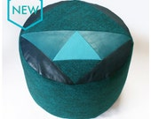 Green Tweed Vader patchwork pouffe