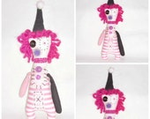 "Creepy Clown Art Doll ""Clicker"" Whimsy PINK Doll by EerieBeth"