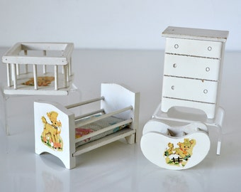 Hall's Lifetime Toys Doll Furniture Baby Room