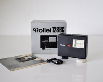Vintage Rollei 128 BC Shoe Mount Flash in Box