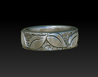 Wedding ring Leaves ring wedding rings wedding bands ring band promise ring leaf ring womens ring WB8