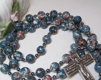 Catholic Rosary Rain Flower Jade