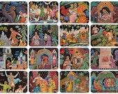 The Princess Frog, Russian Folk Tale (Palekh). Illustrations by K. Bokarev. Complete Set of 16 Vintage Postcards in original cover -- 1972