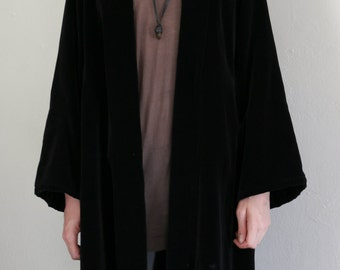 velour swing coat - L